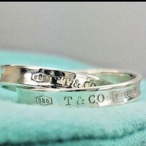 Beautiful women 925 Silver Tiffany & Co Ring S 6.5